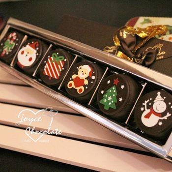【JOYCE巧克力工房】聖誕節限定巧克力馬卡龍(六顆入/盒;六顆入/組)