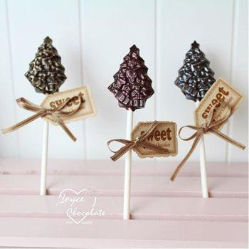 【JOYCE巧克力工房】聖誕節限定聖誕樹巧克力棒棒糖(10支/組)