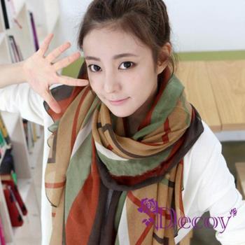【Decoy】大地精靈*線條棉柔圍巾