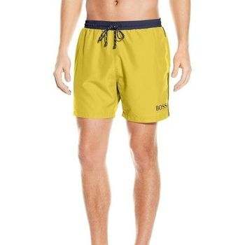 【HUGO BOSS】2016男時尚色彩對比黃色快乾游泳褲(預購)