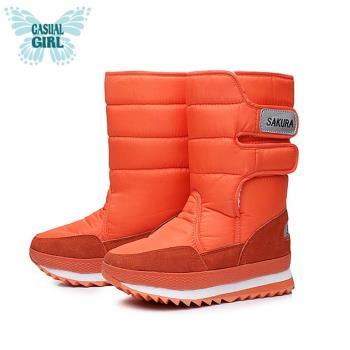 Casual Girl「SKR」保暖太空雪靴-橘色