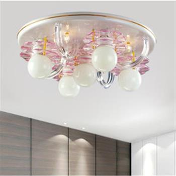 【光的魔法師 Magic Light】粉紅花片吸頂五燈 吸頂燈飾 粉紅色花片設計 不讓光線被燈罩遮住