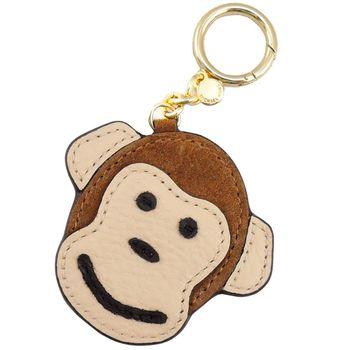 MICHAEL KORS 猴子皮革造型吊飾/鑰匙圈禮盒(2色選)