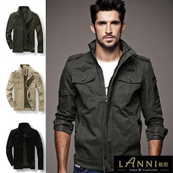 【LANNI-Man】潮流飛行軍裝外套夾克