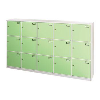 Bernice-防潮防蛀 十五格塑鋼門置物櫃