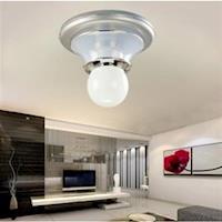 【光的魔法師 Magic Light】銀鑽吸頂單燈 燈飾 吸頂燈具 單燈 可以使用LED燈泡