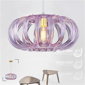 Magic Light光的魔法師 單燈鳥巢現代吊燈(紫)