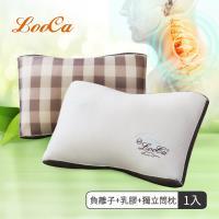 LooCa升級版-蠶絲乳膠負離子健康獨立筒枕(1入)-1月活動