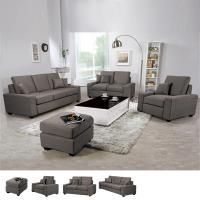 Bernice布拉格灰色布沙發組1+2+3+腳椅