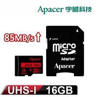 Apacer宇瞻 16GB MicroSDHC UHS-I Class10 記憶卡 85M