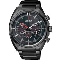 【CITIZEN 星辰】光動能夜行戰士三眼計時不鏽鋼腕錶/45mm/CA4285-50H