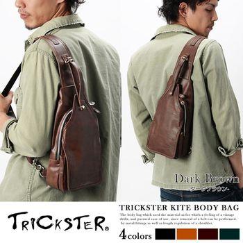 【TRICKSTER】日本品牌 斜背包 腳踏車包 B6 單肩背包 復古皮革感 都會潮流【tr45】4色