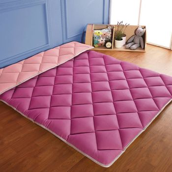 【契斯特】珍珠刷毛絨多功能日式床墊-雙人5尺-酒釀櫻桃