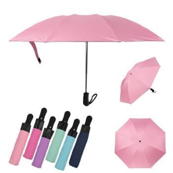 (1+1)全自動折疊黑膠抗UV晴雨反向傘2入組