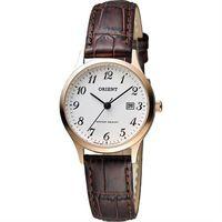 ORIENT 東方錶 優雅復刻數字石英女錶-白x玫瑰金框/28mm FSZ3N007W