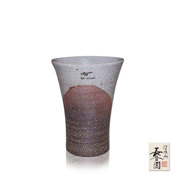 【日本長谷園伊賀燒】日式三角陶土杯(燻黑款小)