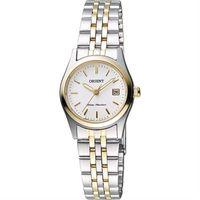 ORIENT 東方錶 優雅復刻石英女錶-白x雙色版/26mm WJFSZ46002W
