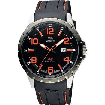 ORIENT 東方錶 SP 系列 冒險家運動腕錶-黑x橘/44mm FUNG3004B
