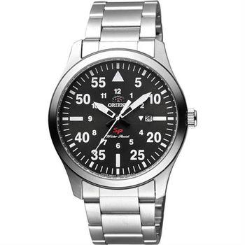 ORIENT 東方錶 SP 系列 飛行運動石英錶-灰x銀/42mm FUNG2001B