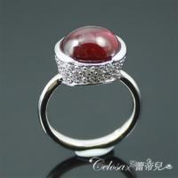 【Celosa珠寶】圓夢紅寶原石戒指