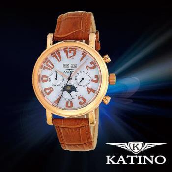 KATINO 卡帝諾 海洋風味三眼腕錶 K007MFR