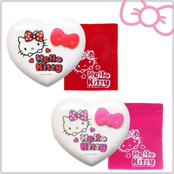 Hello Kitty 電子式暖爐 甜蜜蕾絲款 KT-Q08 二入組