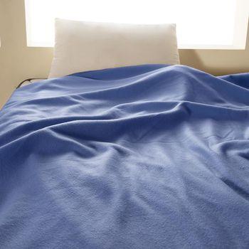 【HomeBeauty】轻柔珍珠刷毛绒毯-150x180cm-1入-(蔚蓝色)