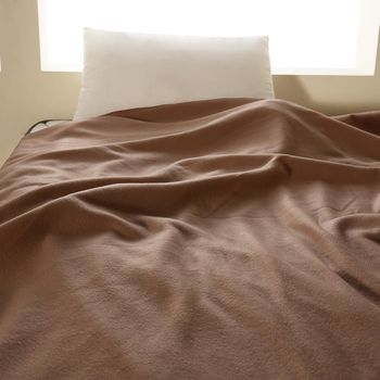【HomeBeauty】轻柔珍珠刷毛绒毯-150x180cm-1入-(棕茶咖)