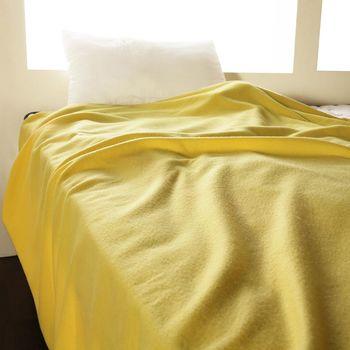 【HomeBeauty】轻柔珍珠刷毛绒毯-150x180cm-1入-(天使黄)