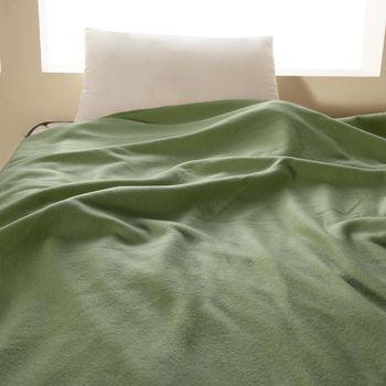 【HomeBeauty】轻柔珍珠刷毛绒毯-150x180cm-1入-(青瓷绿)
