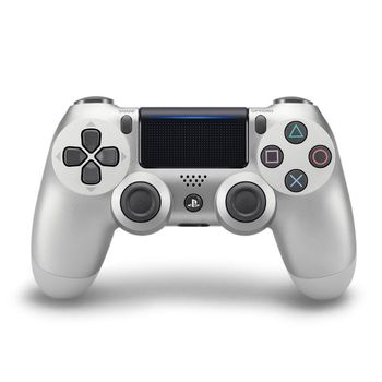 SONY PS4原廠DS4 光條觸碰板 無線震動手把-銀色(CUH-ZCT2G15)