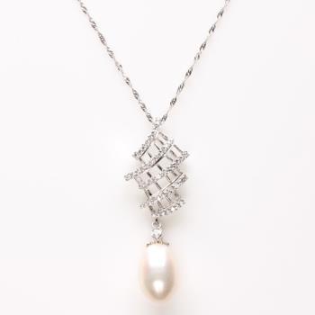 【寶石方塊】珠零錦燦天然珍珠項鍊