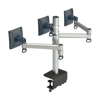 FOGIM 夾桌懸臂式液晶螢幕支架(三螢幕)-TKLA-6033C1-S