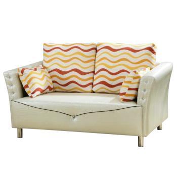 Bernice-丽塔珠光鳄纹皮双人座沙发(附抱枕)