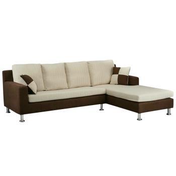 Bernice-洛娜 L型布沙發-左右型(送抱枕)
