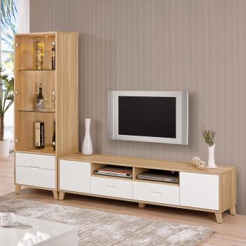 Bernice-羅曼尼8尺L型電視櫃組合