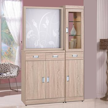 【時尚屋】[G17]韋弗利浮雕原橡木4尺屏風雙面櫃G17-A191-1