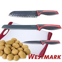 《德國WESTMARK》廚房好用3刀組(水果刀+麵包刀+日式氣孔刀)