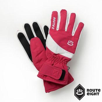 Route8 KORUS PRIMALOFT防水保暖手套(絢麗紅)