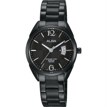 ALBA 東京簡約時尚腕錶-黑/28mm VJ22-X215SD(AH7J21X1)