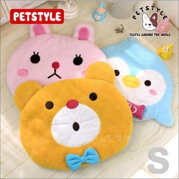 日系PetStyle《可愛動物兩用寵物睡墊/遊戲墊S》附可拆玩具枕頭