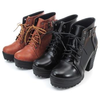 【 cher美鞋】MIT英倫牛津粗跟短靴.♥RRST-AG