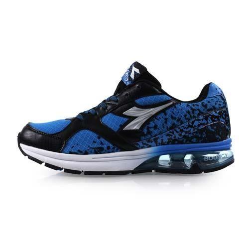 【DIADORA】男氣墊慢跑鞋-路跑 寬楦 藍黑銀