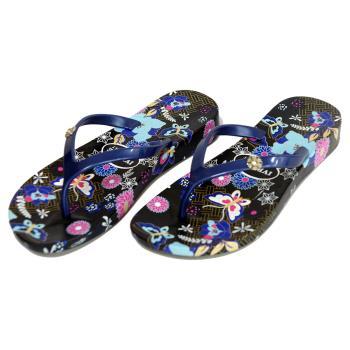 【洋森生活】台灣製IVENICE彩蝶夾腳拖鞋-2色可選#CF212