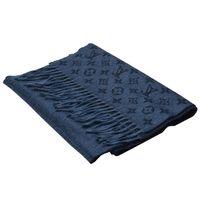 LV M70257 經典Monogram LOGO GRADIENT系列羊毛圍巾(海軍藍)
