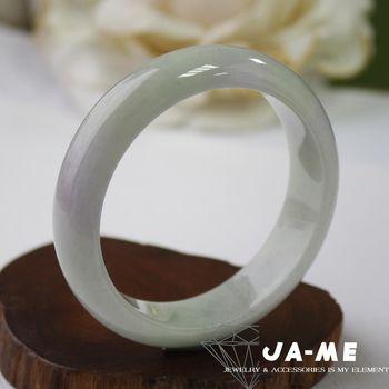 【JA-ME】天然A貨翡翠紫羅蘭春帶彩玉鐲(手圍17.5)