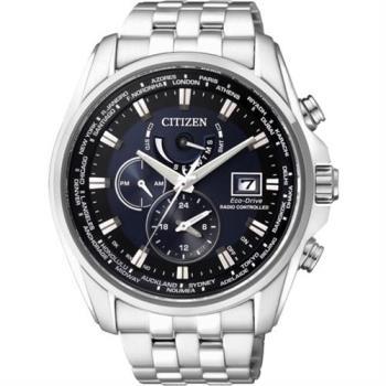 CITIZEN Eco-Drive 競速賽車電波計時腕錶-藍/44mm AT9031-52L