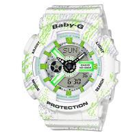 BABY-G 運動時尚童趣霧狀蠟筆紋路設計概念休閒錶 BA-110TX-7A