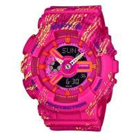 BABY-G 運動時尚童趣霧狀蠟筆紋路設計概念休閒錶 BA-110TX-4A