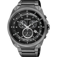 CITIZEN Eco-Drive METAL 專屬型男計時腕錶-黑/44mm AT2155-58E